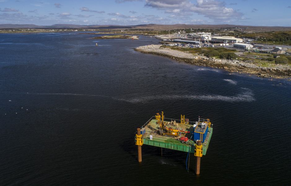 Aerial photo of drilling platform